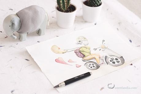 amvelandia Ilustración personalizada Cinta motorista1